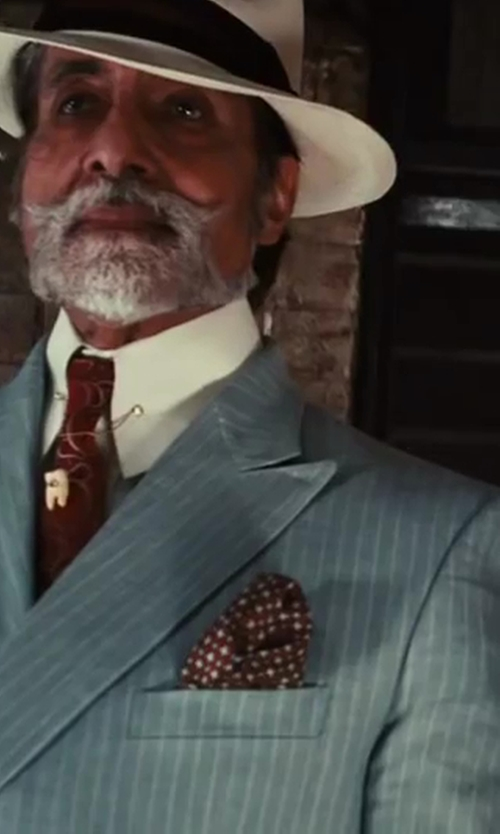 Amitabh Bachchan with Brooks Brothers Regent Fit Two-Button Linen Stripe Suit in The Great Gatsby