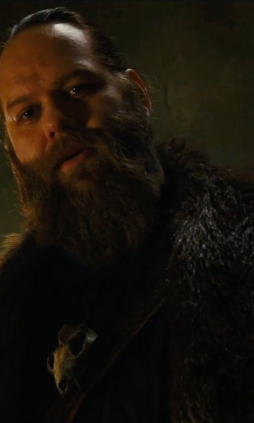 Ólafur Darri Ólafsson with Brooks Brothers Fur Collar Chesterfield Coat in The Last Witch Hunter