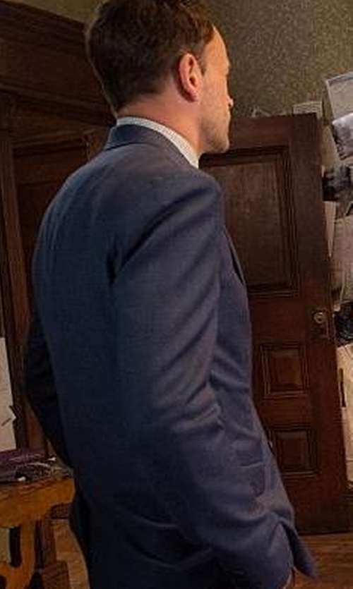 Jonny Lee Miller with Ted Baker Bayvil Birdseye Suit Jacket in Elementary