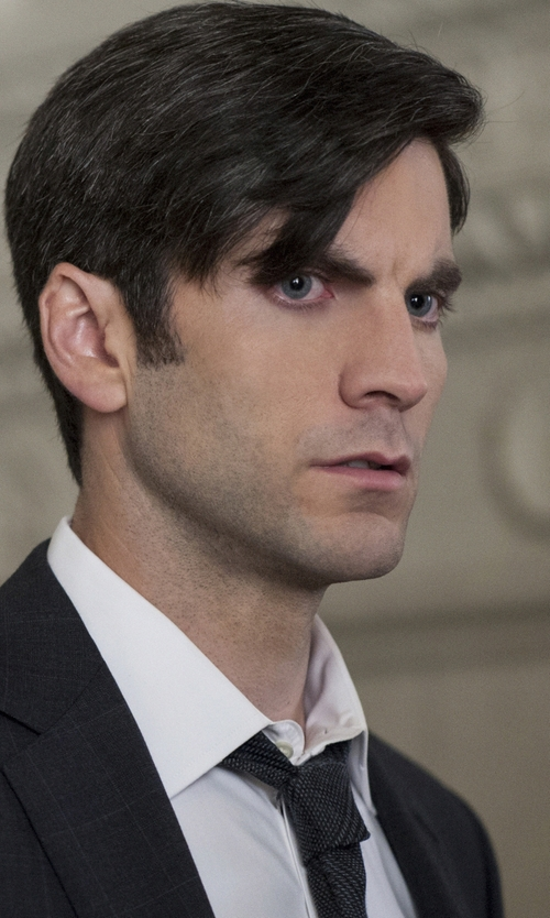 Wes Bentley with Hugo Woven Silk Tie in American Horror Story