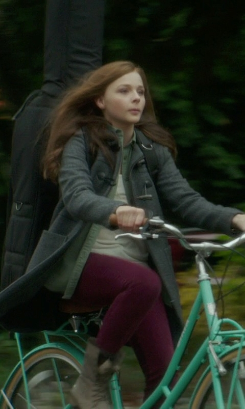Chloë Grace Moretz with Zara Wool Duffle Coat in If I Stay