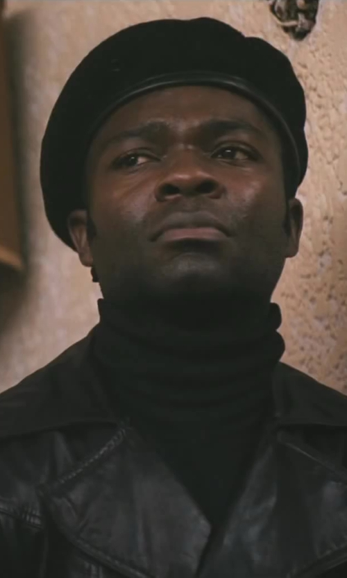 David Oyelowo with Topman Leather Biker Jacket in Lee Daniels' The Butler