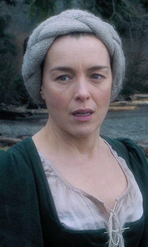 Olivia Williams with Jacqueline West (Costume Designer) Custom Made Cable Knit Headband (Mam) in Seventh Son