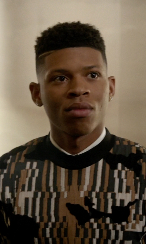 Bryshere Y. Gray with Givenchy Optical Jacquard Sweater in Empire