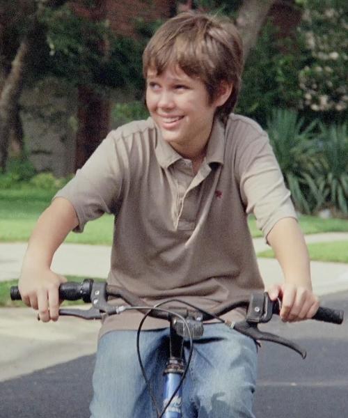 Ellar Coltrane with Generic MTB BMX Platform Bike in Boyhood