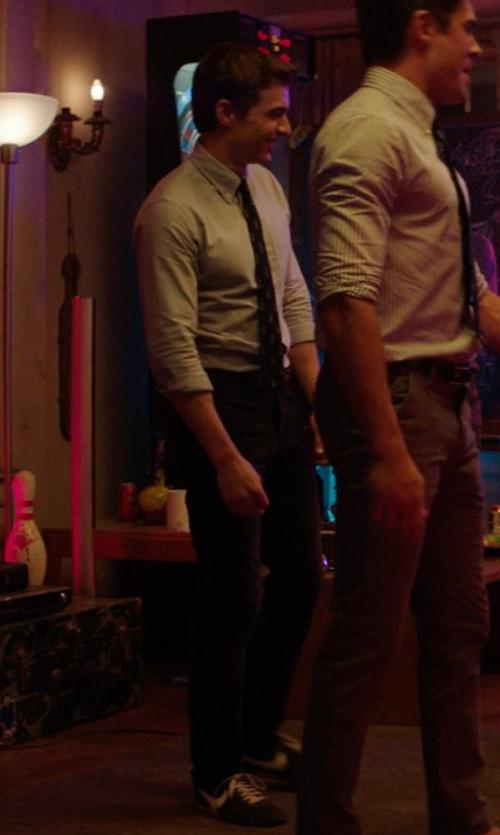 Dave Franco with RVCA Weekender Pants in Neighbors