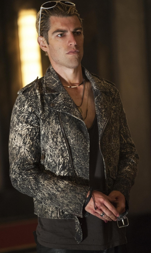 Max Greenfield with All Saints Tonic Tank Top in American Horror Story