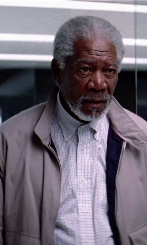 Morgan Freeman with Cole Haan Men's Coated Cotton Moto Jacket in Transcendence