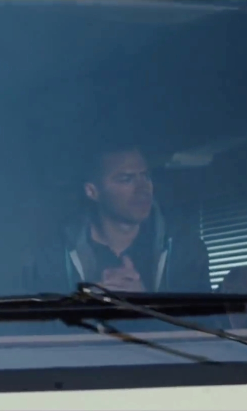 Jesse Williams with HUF Logo Zip Up Hoodie in Cabin in the Woods