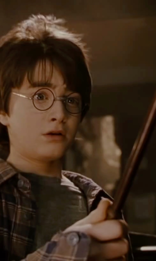 Daniel Radcliffe with The Noble Collection Harry Potter Bronze Wand in Harry Potter and the Deathly Hallows: Part 2