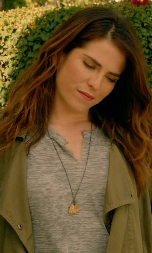 Karla Souza with Nation LTD Karen V-Neck Tee in How To Get Away With Murder