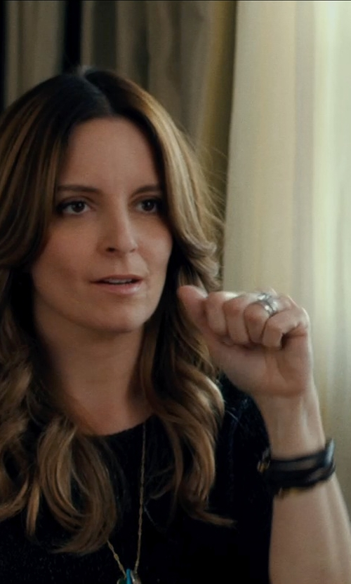 Tina Fey with MIANSAI Gold Mini Hook Wrap Bracelet in This Is Where I Leave You