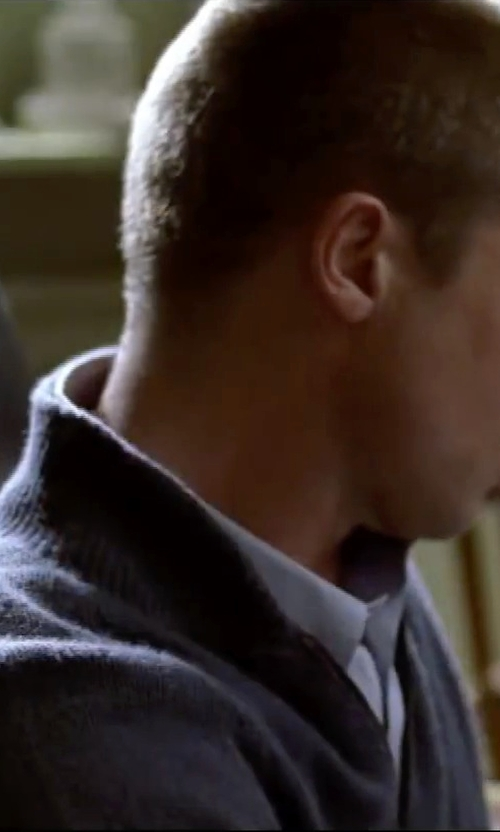 Brad Pitt with Peter Millar Cotton-Fleece Zip Pullover Sweater in Mr. & Mrs. Smith