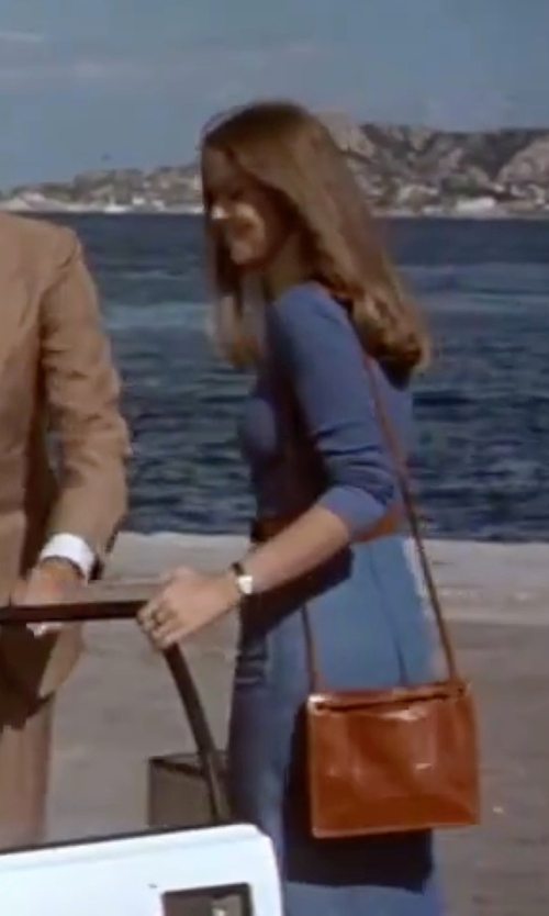 Barbara Bach with Catherine Catherine Malandrino Dian V-Neck Dress in The Spy Who Loved Me