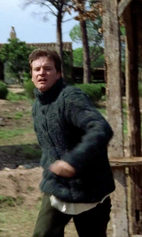 Colin Firth with Topman Cable Knit Turtleneck Sweater in Love Actually