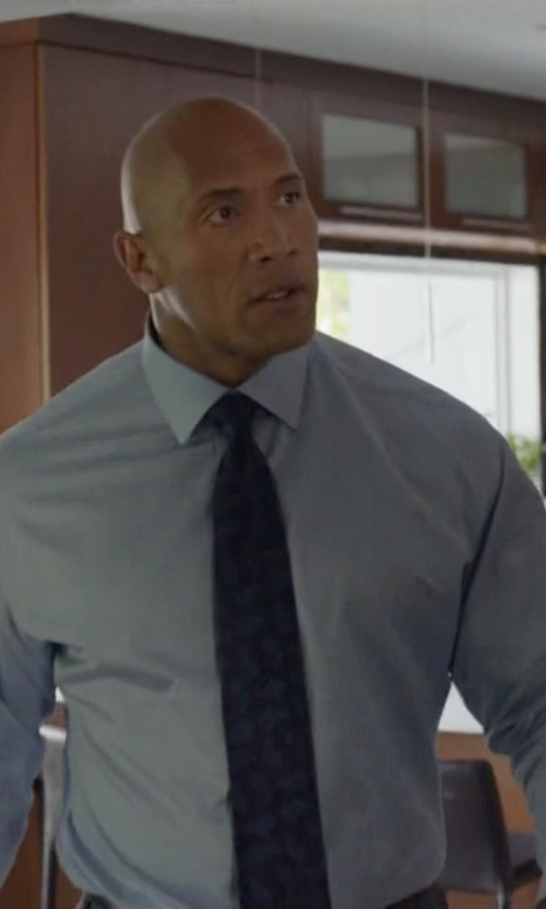 Dwayne Johnson with Tom Ford	 Classic Solid Dress Shirt in Ballers