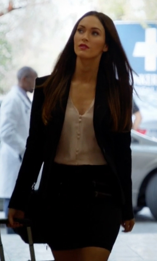 Megan Fox with Express Ultimate Double Weave Jacket in New Girl