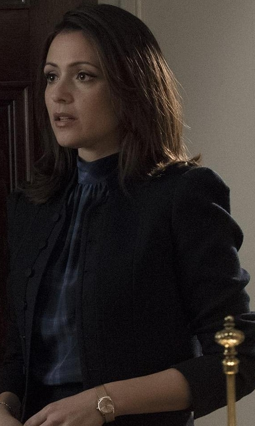 Italia Ricci with Patrizia Pepe Blazer in Designated Survivor
