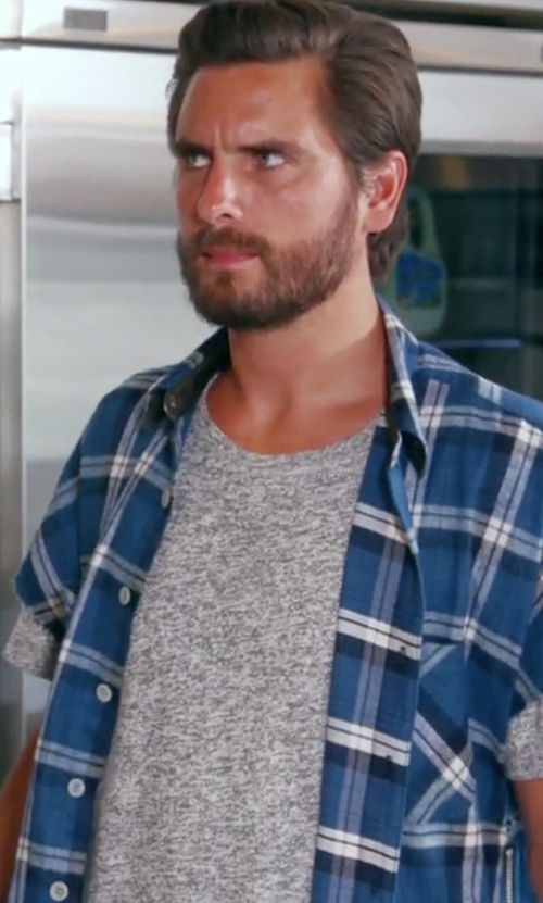 Scott Disick with Burberry Elfords Check Short-Sleeve Shirt in Keeping Up With The Kardashians