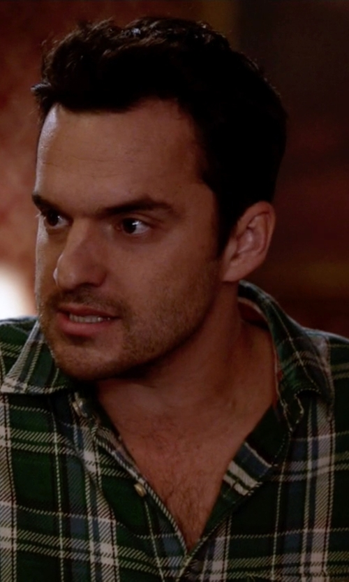 Jake Johnson with Volcom Men's Bartlett Long Sleeve Shirt in New Girl