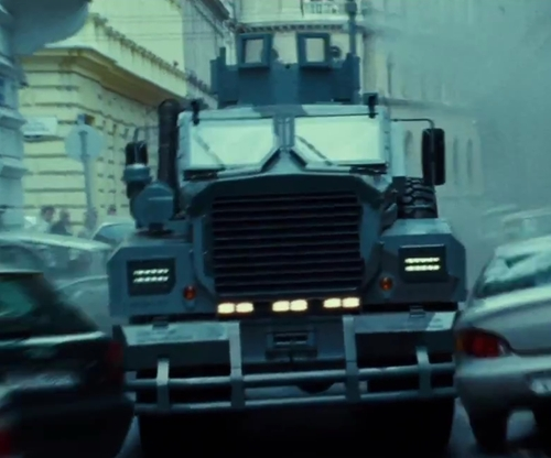Radivoje Bukvic with Force Protection Industries Cougar HE 6x6 Truck in A Good Day to Die Hard