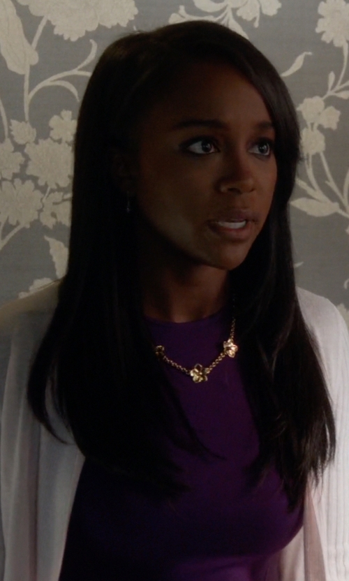 Aja Naomi King with Ted Baker Flared Dress in How To Get Away With Murder