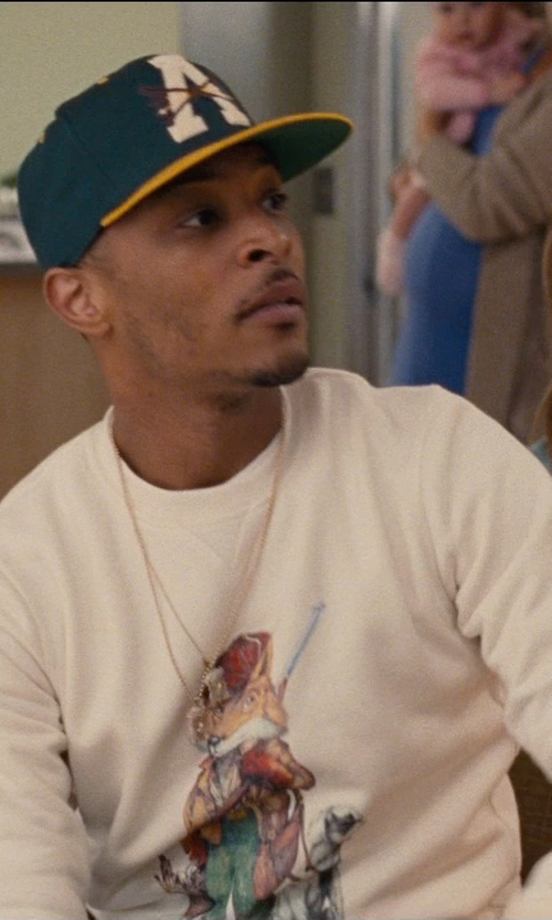 T.I. with Dolphin Shirt Co California Love Distressed Crewneck Sweatshirt in Entourage
