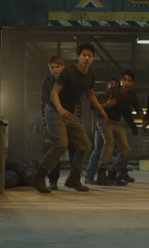 Ki Hong Lee with Steve Madden Troopah Combat Boots in Maze Runner: The Scorch Trials