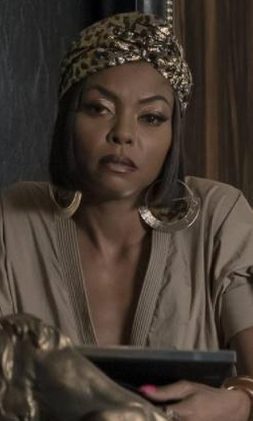 Taraji P. Henson with Gucci Leopard-Jacquard Turban in Empire
