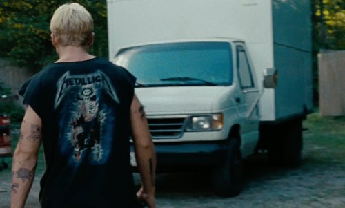 Unknown Actor with Ford 1992 Econoline E350 Box Truck in The Place Beyond The Pines