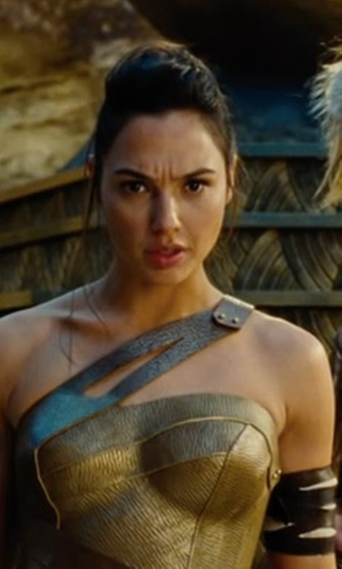 Gal Gadot with Lindy Hemming (Costume Designer) Custom Made Amazon Costume (Diana Prince) in Wonder Woman
