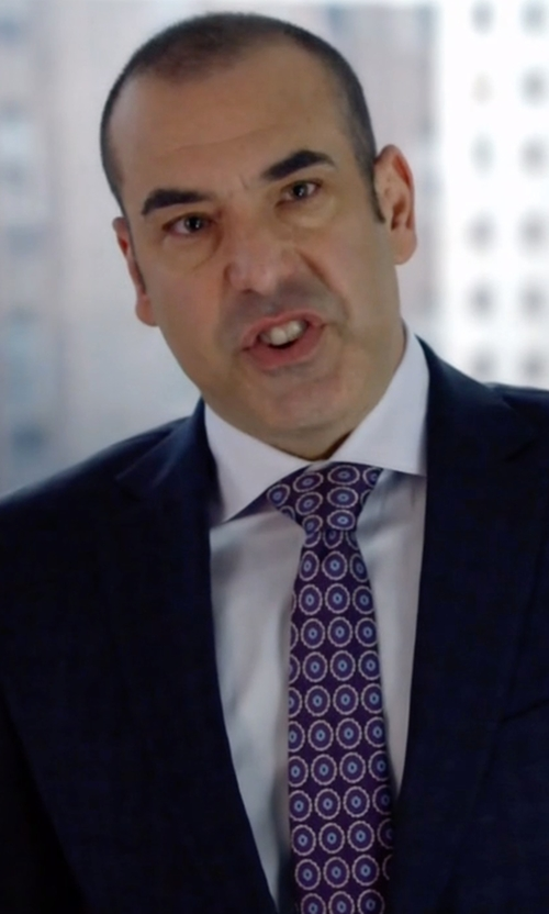 Rick Hoffman with Brooks Brothers Golden Fleece Framed Flower Medallion Tie in Suits