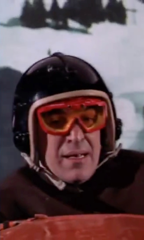 Telly Savalas with Biltwell Novelty Helmet in On Her Majesty's Secret Service