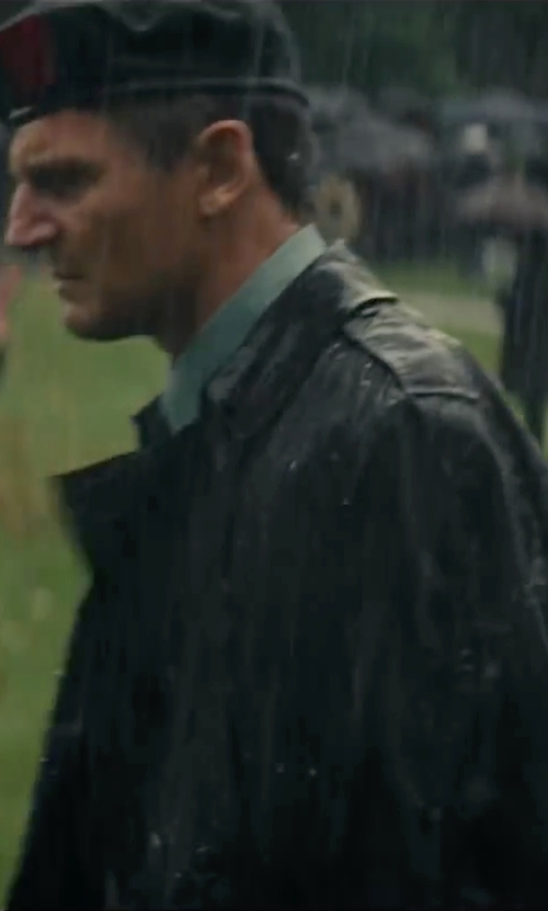 Liam Neeson with Saks Fifth Avenue Collection Rain Coat in The A-Team