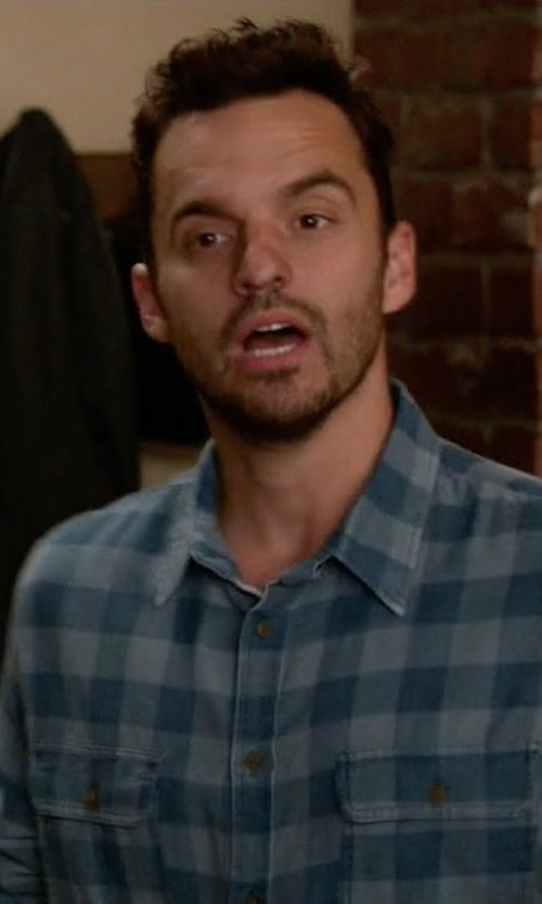 Jake Johnson with Topman  Buffalo Check Flannel Shirt in New Girl