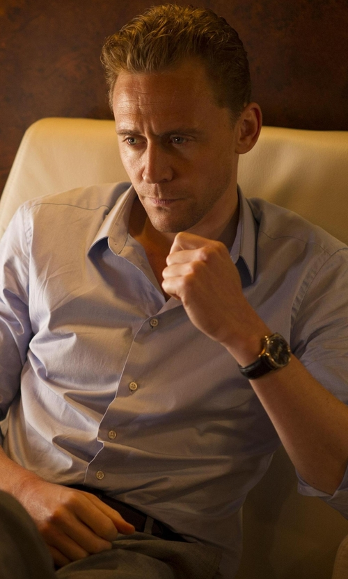Tom Hiddleston with Tissot Men's Couturier Black Dial Strap Watch in The Night Manager
