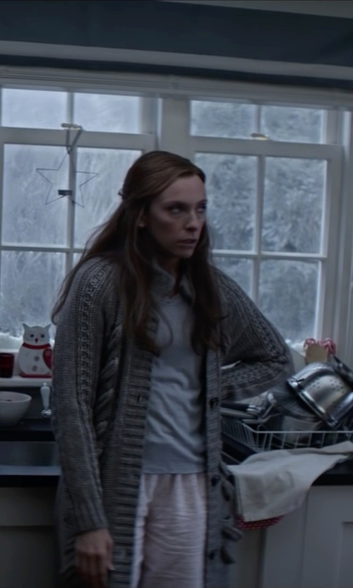 Toni Collette with RA-RE Short Sleeve T-Shirt in Krampus