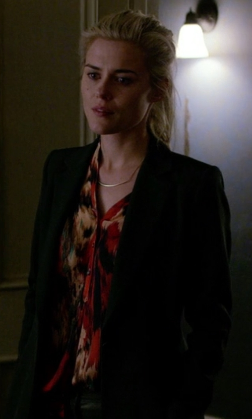 Rachael Taylor with Hautie Hippie Ikat Blouse in Jessica Jones