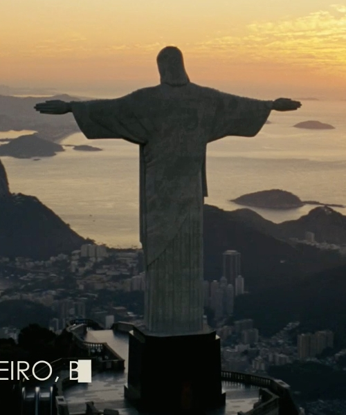 Unknown Actor with Christ The Redeemer Rio De Janeiro, Brazil in Fast Five