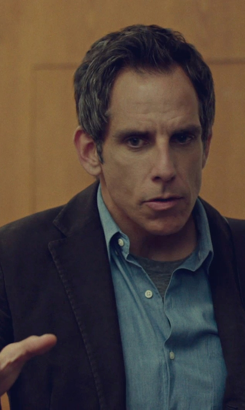 Ben Stiller with Tommy Hilfiger Solid Trim-Fit Corduroy Sport Coat With Elbow Patches in While We're Young