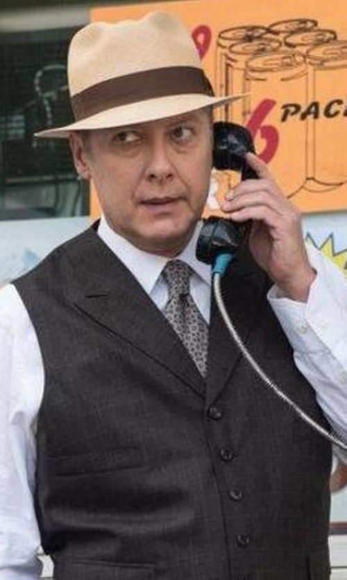 James Spader with Michael Michael Kors Neat Tie in The Blacklist