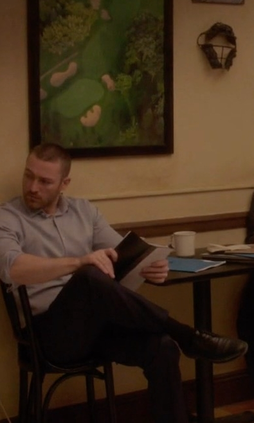 Jake McLaughlin with Magnanni for Neiman Marcus Cap-Toe Patent Leather Oxford Shoes in Quantico
