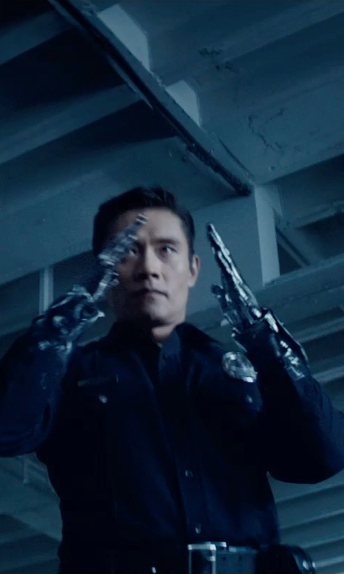 Byung-hun Lee with Tru Spec Long Sleeve Tactical Dress Shirts in Terminator: Genisys