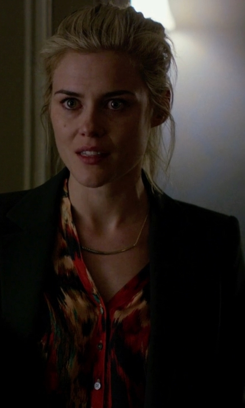 Rachael Taylor with Gorjana Taner Bar Necklace in Jessica Jones
