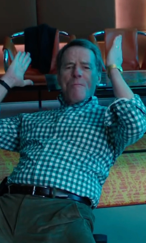 Bryan Cranston with Thom Browne Gingham Check Oxford Shirt in Why Him?