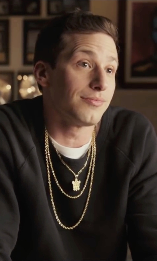 Andy Samberg with Diesel  Raglan Pullover Sweater in Popstar: Never Stop Never Stopping