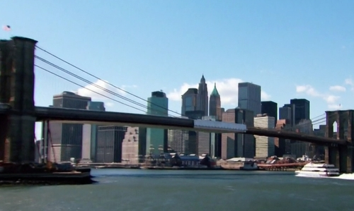 Unknown Actor with Brooklyn Bridge New York City, New York in Keeping Up With The Kardashians