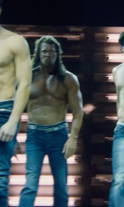 Kevin Nash with A.P.C Washed New Standard Jeans in Magic Mike XXL