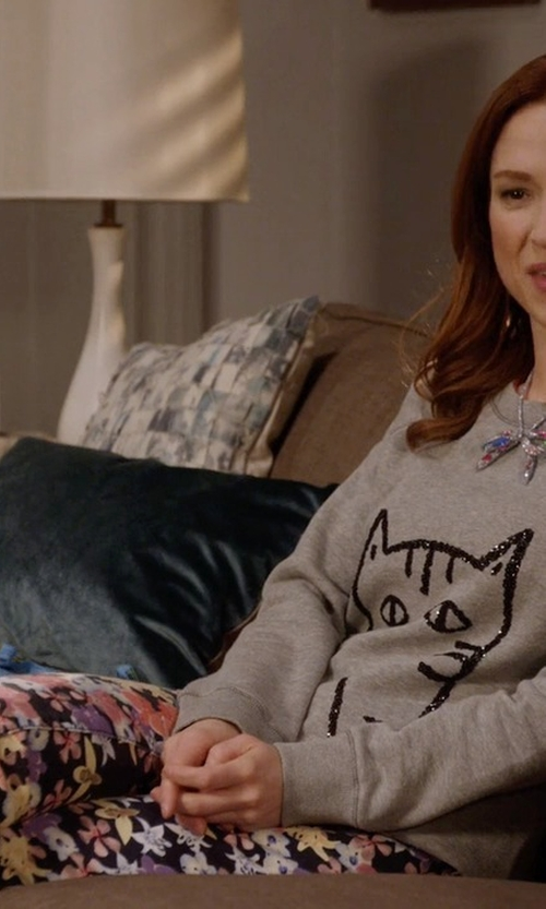Ellie Kemper with Jcolor Casual Pants in Unbreakable Kimmy Schmidt