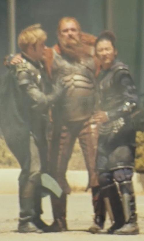 Ray Stevenson with Alexandra Byrne (Costume Designer) Custom Made 'Volstagg' Costume in Thor